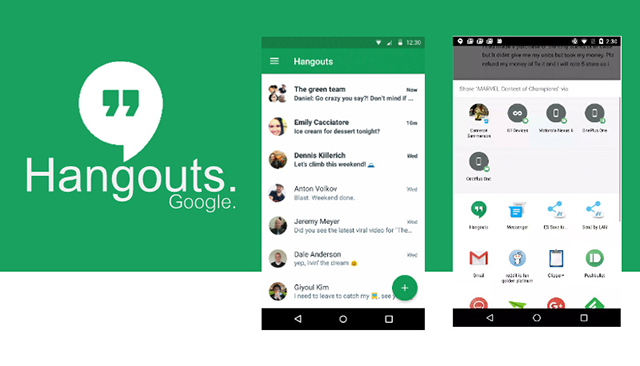 Google Hangouts应用设计